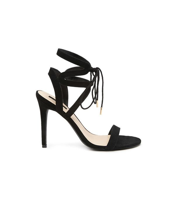 Forever21 Faux Suede Strappy Ankle Heels