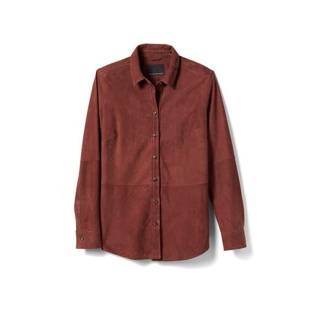 Banana Republic Rust Suede Shirt Jacket
