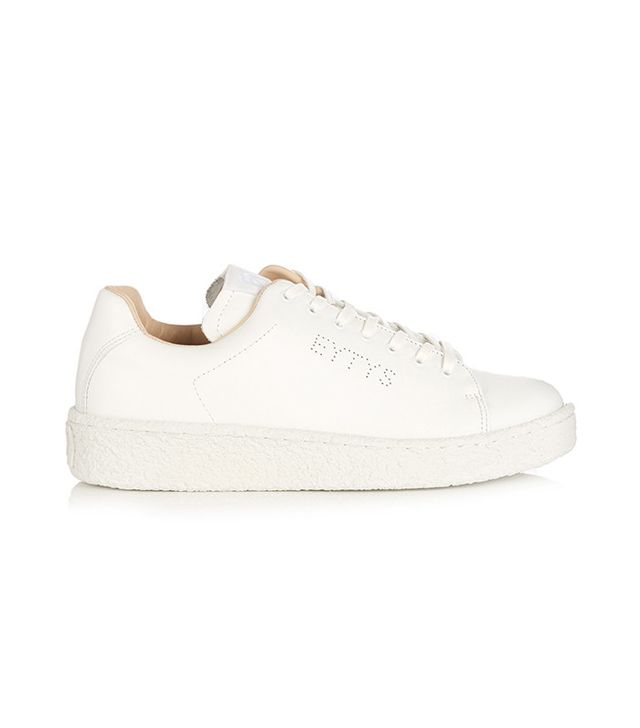 chic leather sneakers