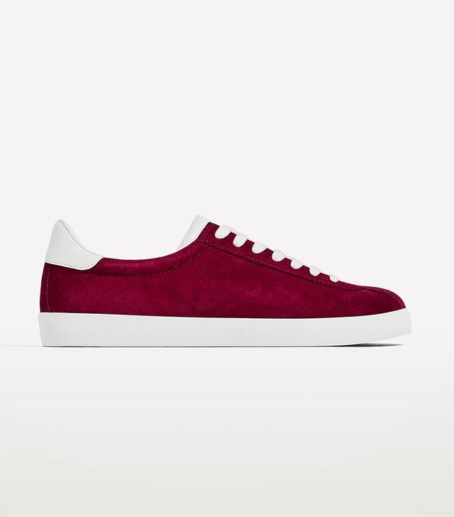 cute suede sneakers