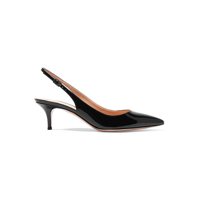 Gianvito Rossi Patent Leather Sling Back Pumps