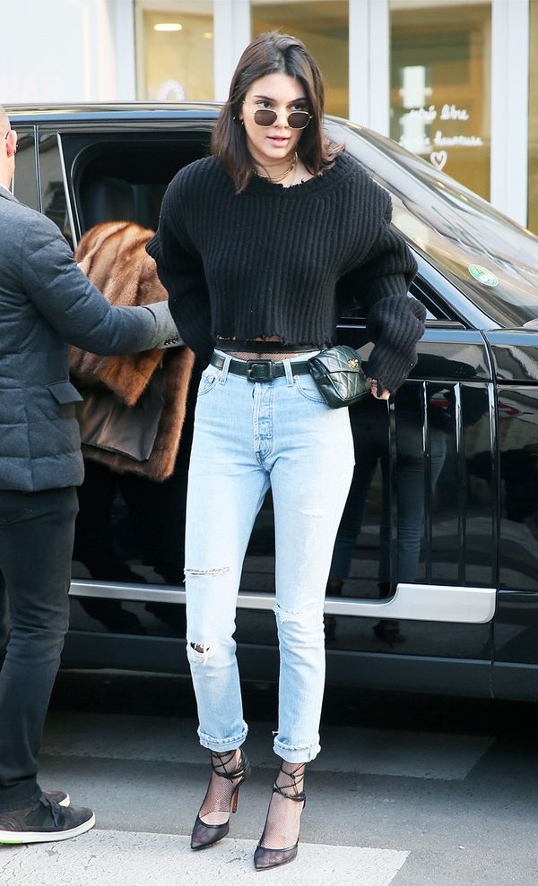 Celebrity Jeans: Kendall Jenner in Re/Done Jeans