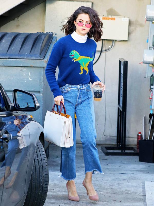Celebrity Jeans: Selena Gomez in Vetements jeans