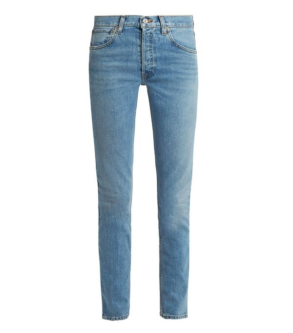 Celebrity Jeans: Re/Done High-Rise Straight Skinny-Leg Jeans