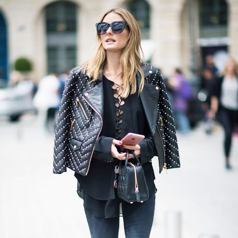 Celebrity Jeans: Olivia Palermo in Black Orchid jeans
