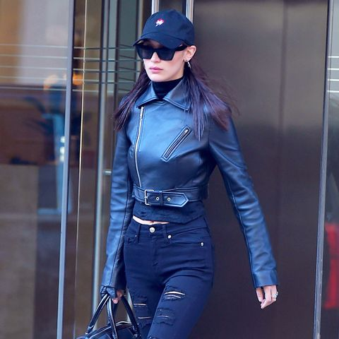Celebrity Jeans: Bella Hadid in Good American