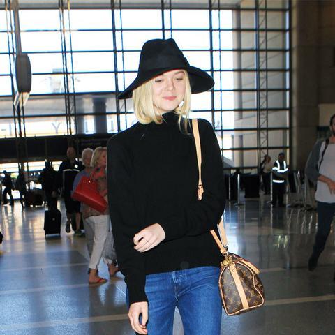 Celebrity Jeans: Elle Fanning in 3x1 fringed jeans