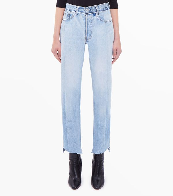 Celebrity Jeans: Vetements Reworked Blue Jeans