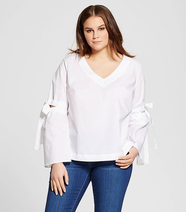 Who What Wear Collection Bell Sleeve Vee