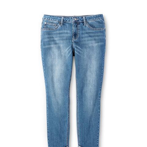 Plus Size Release Hem Skinny Ankle Jeans