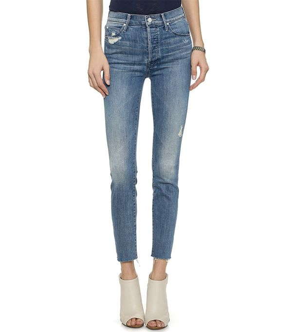 Mother Stunner Ankle Fray Jeans