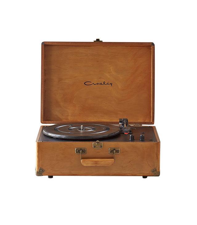 Crosley x UO Keepsake Wood Portable USB Vinyl Record Player