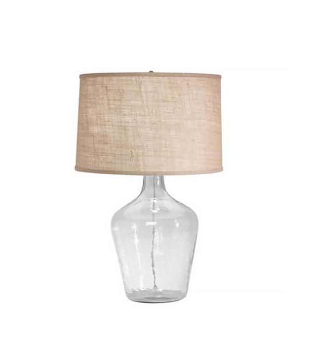 Ethan Allen Glass Plum Jar Table Lamp