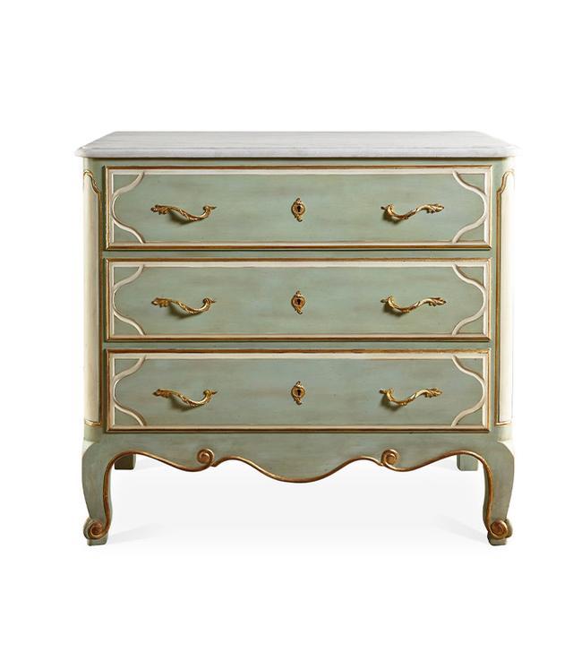 Vintage 3-Drawer Marble Dresser