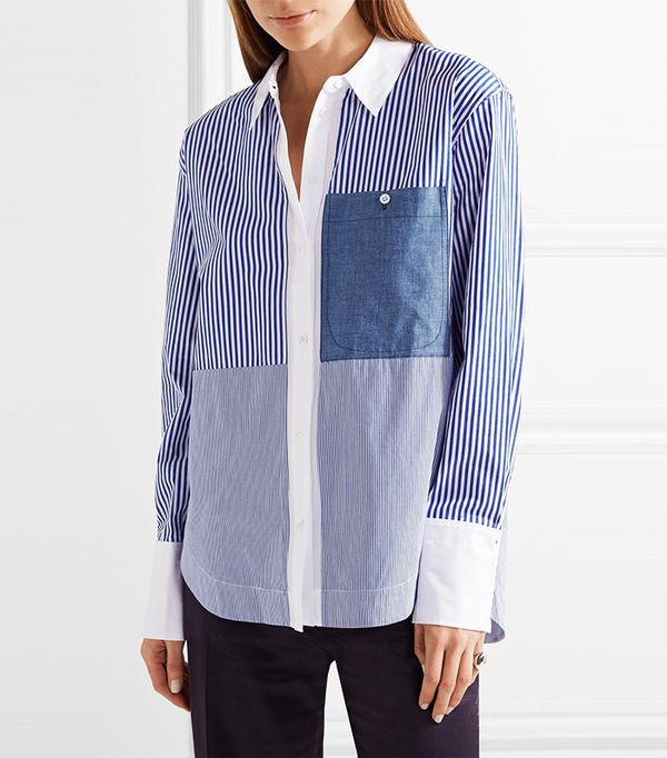 Elizabeth and James Keating Striped Cotton-Poplin Shirt