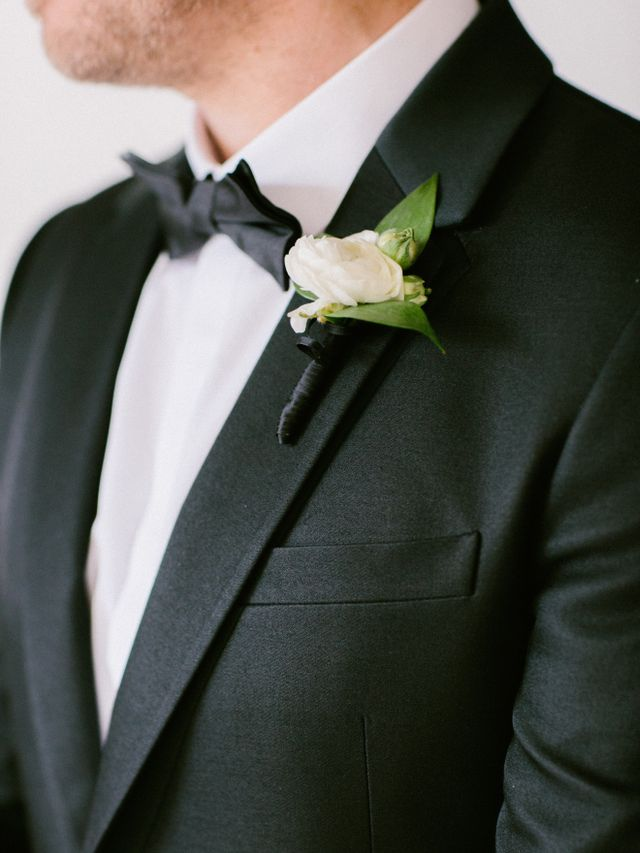 """Jonathan wore a Valentino tuxedo, shirt, and bow tie—with velvet loafers, or 'smoking slippers,' as I prefer to call them."""