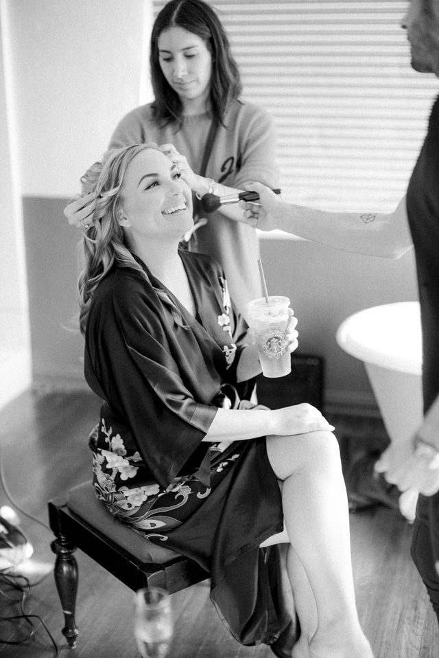 """I love a kimono robe—or Kerrmono, as I like to call them—so it seemed appropriate to wear one on the day of my wedding while getting ready with my friends Jen Atkin and Joey..."