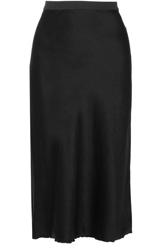 Helmut Lang Satin Midi Skirt