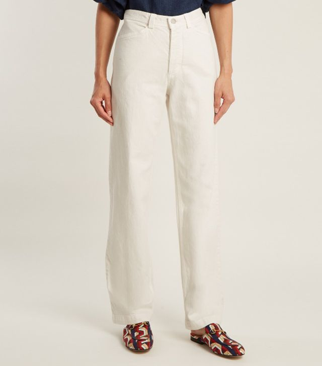 Rachel Comey Workwear High-Rise Straight-Leg Denim Jeans