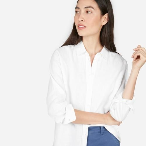 Relaxed Linen Shirt in White