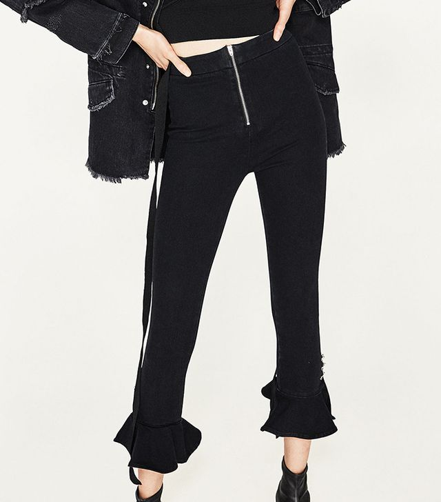 Zara Metallic Details Trousers