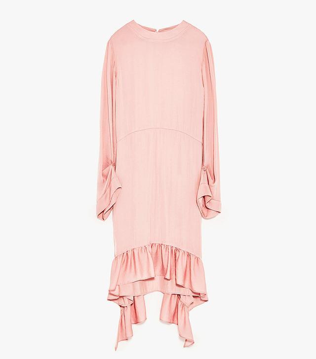 Zara Frilled Midi Dress