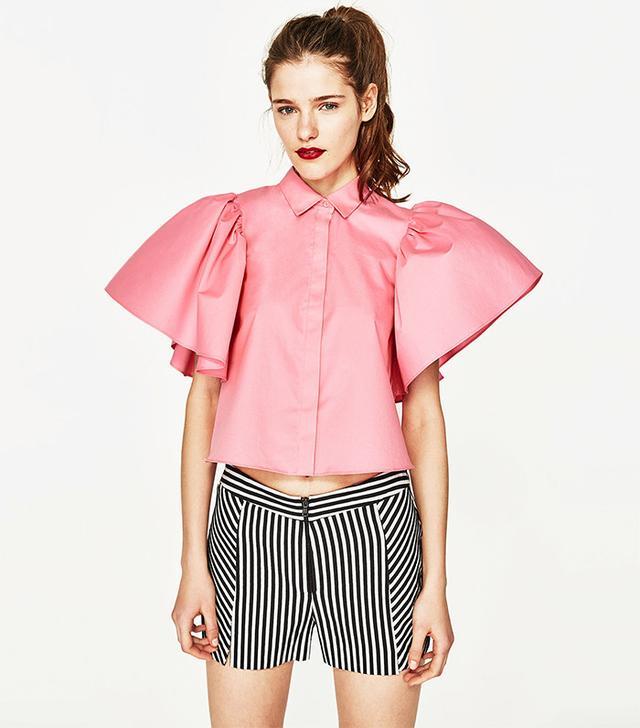 Zara Shirt With Back Tie