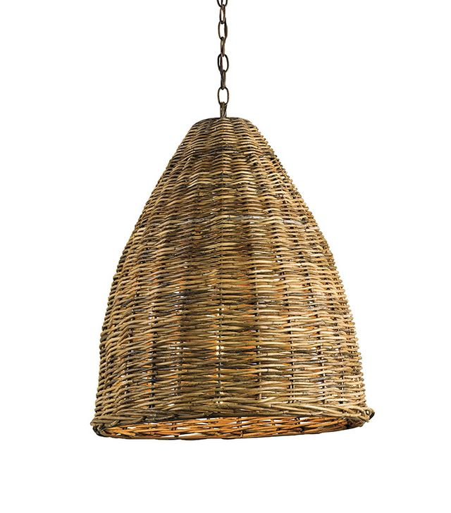 Currey & Company Basket Pendant in Natural