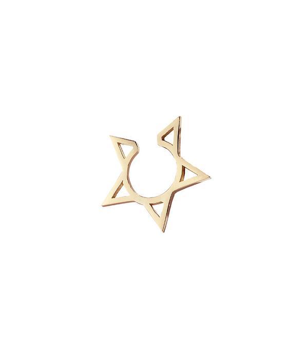 Foundrae Hollow Star Ear Cuff