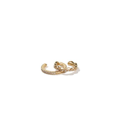 Oz Gold Crystal Ear Cuff Set