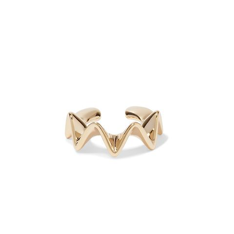 Ruffle Gold-Plated Ear Cuff