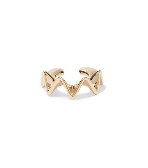 Arme De L'Amour Ruffle Gold-Plated Ear Cuff