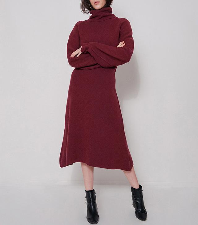 Frankie Burgundy Knit Dress