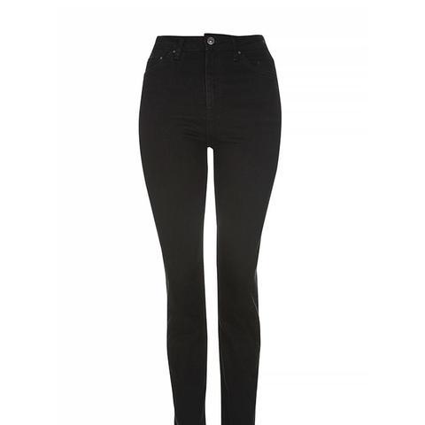 MOTO Black Straight Leg Jeans