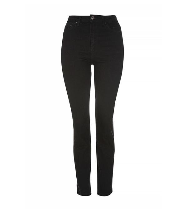 Topshop MOTO Black Straight Leg Jeans