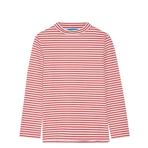Emelie Striped Cotton-Jersey Top