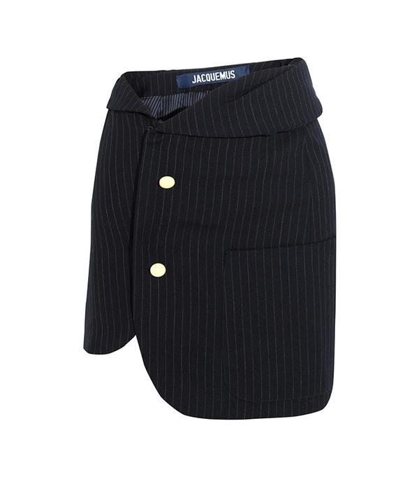 Jacquemus Pinstriped Wool Mini-Skirt
