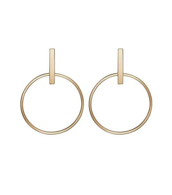 Au Rate Circle Earrings