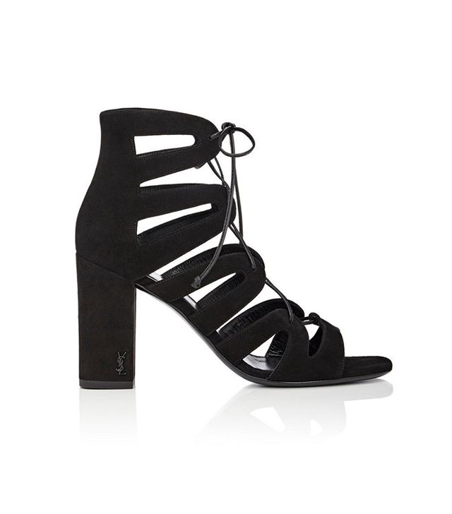 Saint Laurent Babies Lace-Up Sandals