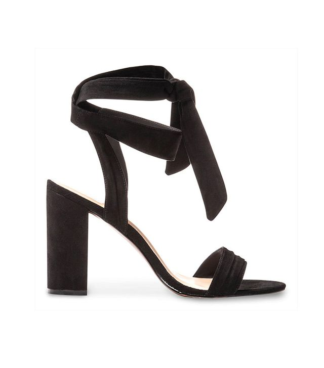 Who What Wear Michaela Block Heel Quarter Strap Sandals in Black