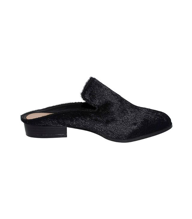 Who What Wear Faith Faux Pony Hair Flat Mules
