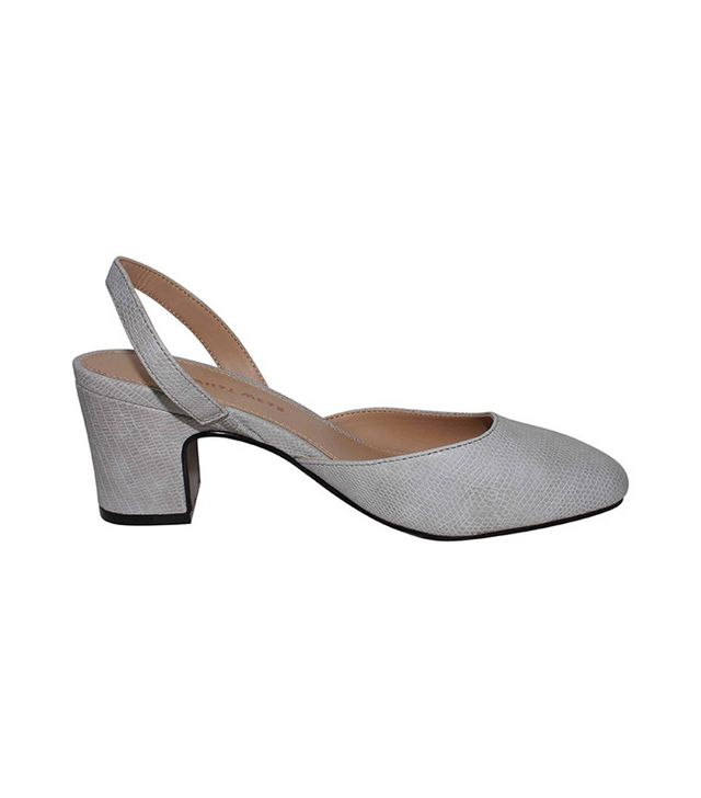 Who What Wear Annalise Slingback Pumps in Grey