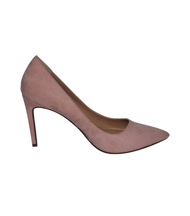 Who What Wear Ally Microsuede Pumps in Blushing