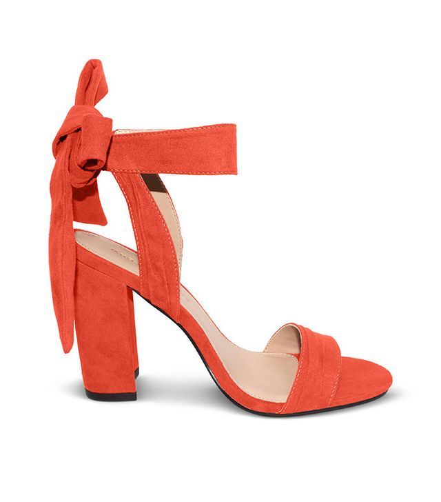 Who What Wear Michaela Block Heel Quarter Strap Sandals in Ibis Rose