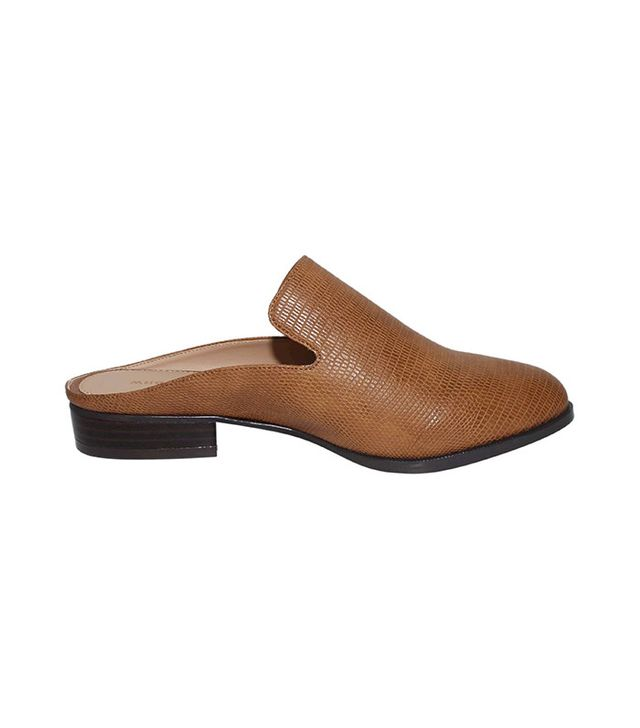 Who What Wear Faith Flat Mules in Tan