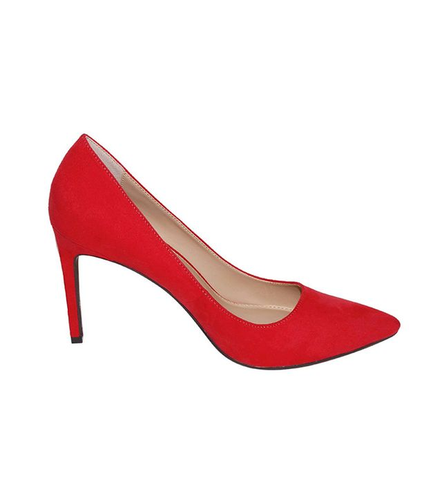 Who What Wear Ally Microsuede Pumps in Red