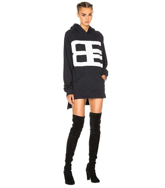 Baja East French Terry Graphic Sweatshirt Dress