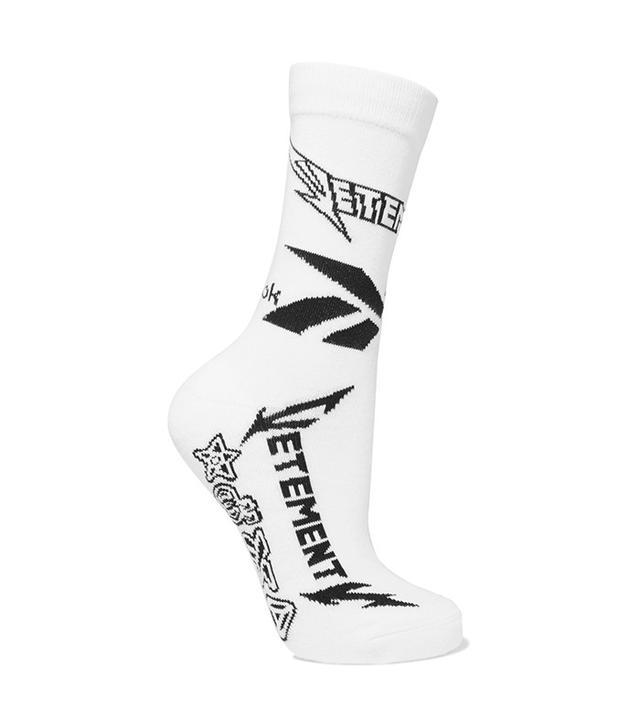 Vetements Reebok Intarsia Stretch Cotton-blend Socks