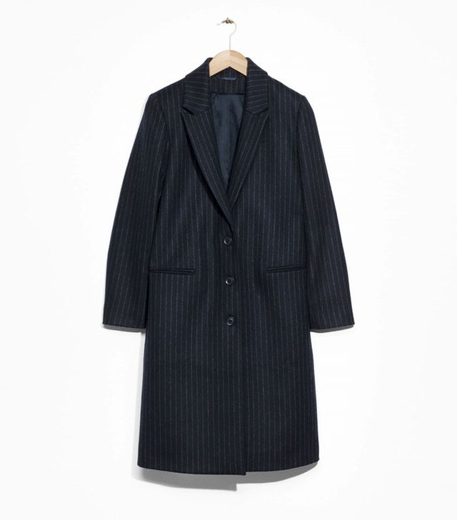 & Other Stories Pinstripe Coat