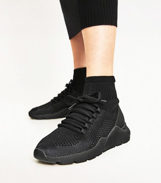 Zara Fabric Sock Sneakers